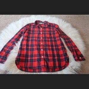 Jeans/ plaid shirt